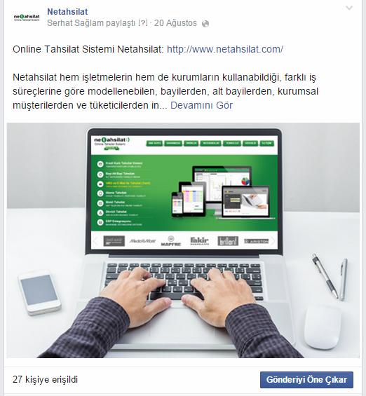 Facebook Örnek Gönderi