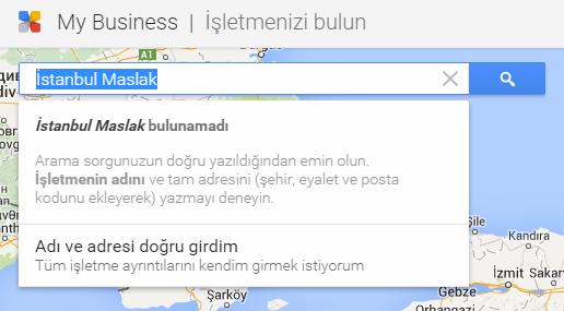 Google Haritalar Adres Girişi