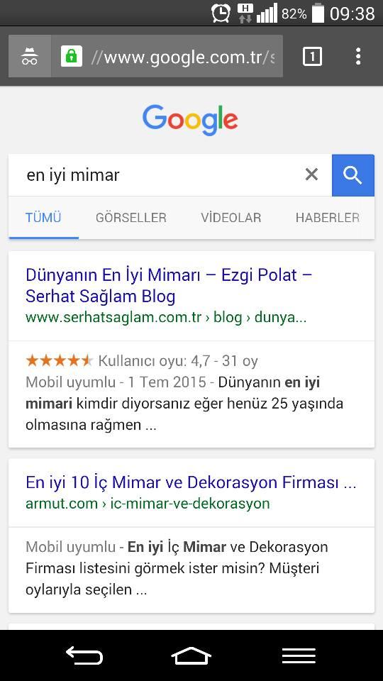 Google'da Mobil Uyumlu Site Görünümü