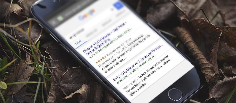 google aramalarında mobil  seo uyumlu site