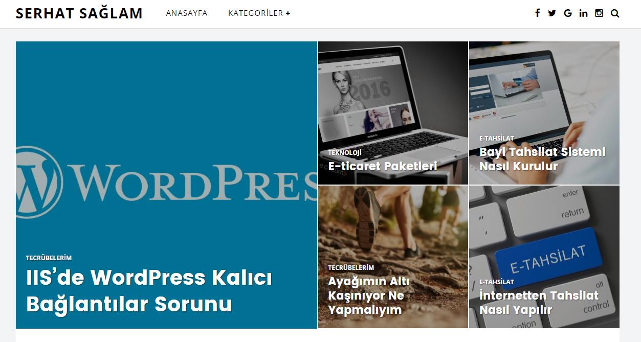 Serhat Sağlam Kişisel Web Sitesi Tasarımı