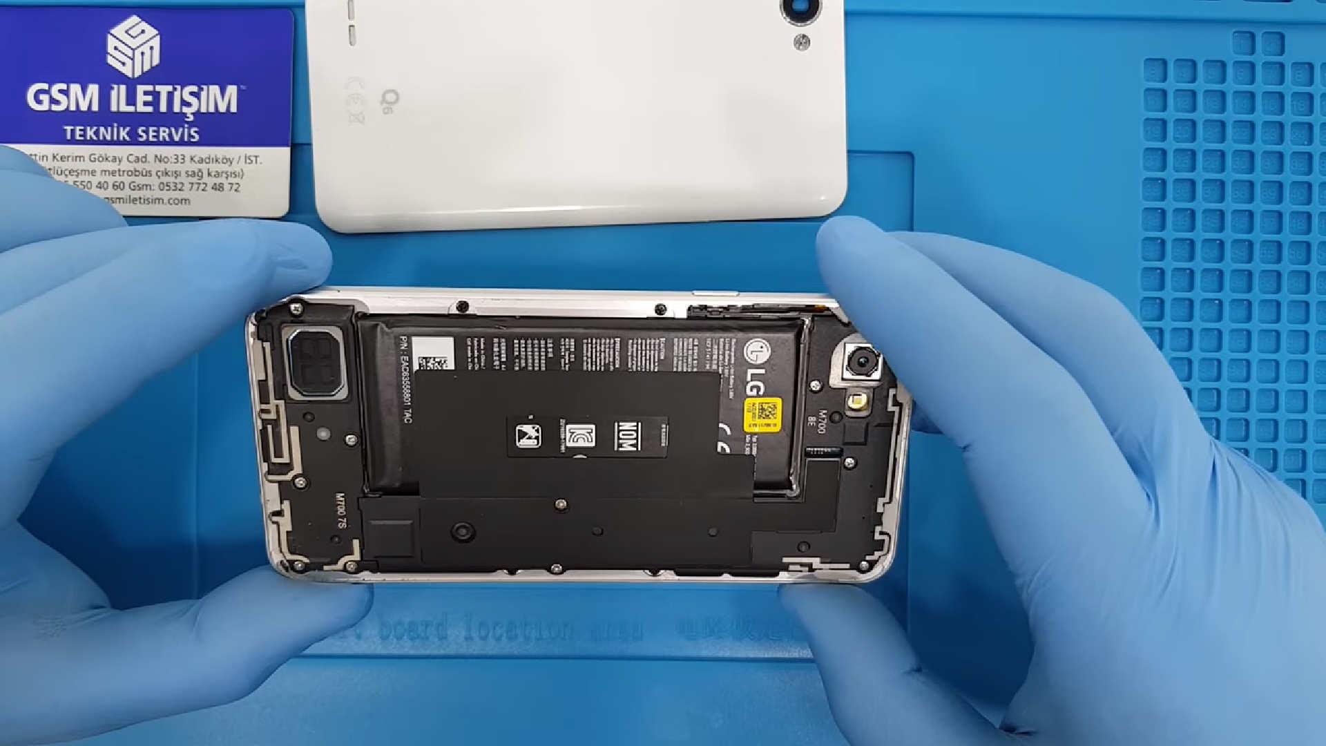 LG Q6 orjinal batarya değişimi