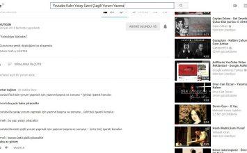Youtube'da Kalın Yatay Üzeri Çizgili Yorum Yapma